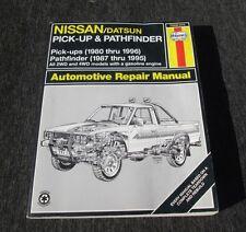 HAYNES NISSAN DATSUN PICKUPS 1980-1996 PATHFINDER 1987-1995 2WD 4WD MODELS