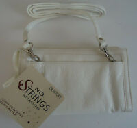 """Buxton """"No Strings Attached"""" Shoulder Strap Bag, White"""