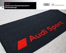 Audi Sport Strandlaken 3132002500 dunkelgrau rot 80x180cm großes Audi Sport Logo