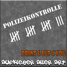 Aufkleber, Schriftzug Polizeikontrolle Sticker Styling, Tuning, 40 cm x 13,2 cm