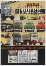 "BREKINA AUTOMODELLE ""Messe 2007 Gesamt-Programm"" Rover P6, Morris Minor, Peugeot"