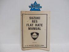 Suzuki RE5 Dealer Service Department Flat Rate Manual 1975 75 Wankel Rotary