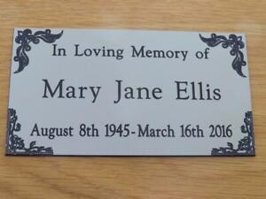 Personalised Engraved Memorial or Celebration Plaque Various Sizes.- LPT21