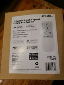 Universal Smart Wi-Fi 4-Speed Ceiling Fan Remote Works with Google Assistant