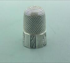 VICTORIAN ENGLISH SILVER THIMBLE GOOD HENRY GRIFFITH & SON CHESTER 1893
