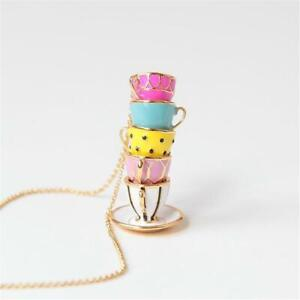 Kate Spade New York Tea Time Stacked Pendant Necklace Pink