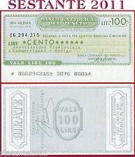 BANCA CATTOLICA DEL VENETO Lire 100 29.10. 1976 ASSOC. COMMERCIANTI ROVIGO B101