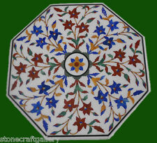 "24"" Coffee Table Top Stone Inlay Pietra dura​ Art Work For Home Decor & Gift"
