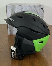 Smith Optics Vantage Snow Sports Helmet - Matte Black Split/Green