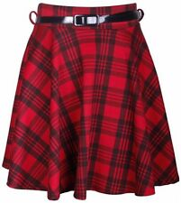 Gonne e minigonne da donna rosso casual in poliestere