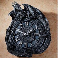 "Penhurst Mythological Gothic Medievel Dragon 17½"" Resin Wall Clock"