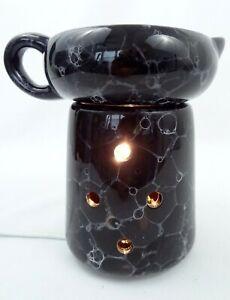 Wax Tart Warmer Simmer Pot Electric Black Marble by Mia Bella