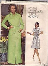 Vogue Designer Sewing Pattern 1072, Chuck Howard, Vintage Shirt Dress, Size 14