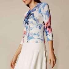 3/4 Sleeve Floral Regular Size Jumpers & Cardigans for Women