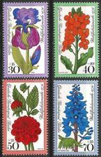Germany Berlin 1976 MNH - Welfare Garden Flowers Iris Wallflower Dahlia Larkspur