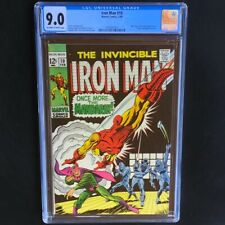 Invincible Iron Man #10 💥 CGC 9.0 OW-W 💥 Nick Fury & Mandarin Appearance! 1969