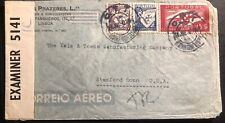 1942 Lisboa Portugal Censored Airmail Cover To Yale Manufacturing Stamford USA