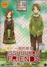 ISSHUUKAN FRIENDS VOL. 1-12 END JAPANESE ANIME DVD BOXSET + FREE SHIPPING
