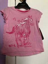 Carhartt 1pc Shirt Gray w// Pink Heart /& Deer CA9531  Infants//Babies//Kids NWT