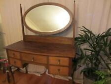 Vintage Solid Oak Queen Anne Dressing Table