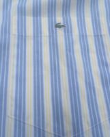 Lacoste Mens Shirt LS Buttonup Size 44 Blue Yellow White Vertical Stripes