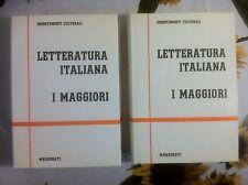 Letteratura Italiana - I Maggiori -  2vol. Orientamenti culturali Marzorati 1990