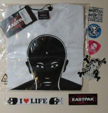EASTPAK Borse BIANCO DEN VERRE Target Stampa T-Shirt SMALL S & Adesivi NUOVO LOTTO
