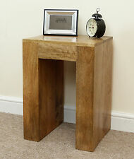 Mantis Light Natural Solid Mango Lamp Table Bedside Table by Mercers Furniture