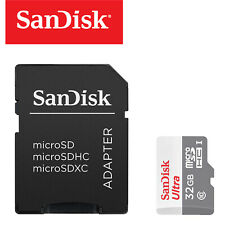 Sandisk Ultra 32GB Micro SD Memory Card for Mobile Phone Camera With Adapter