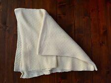 Handmade Merino Wool baby Blanket 32x36 in