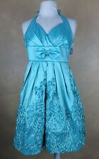Halter Dress Size 3 Ruby Rox Aqua Marine Special Occasion Tule Slip  Never Worn