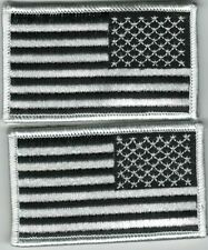 2nd Quality White Black Reverse United States US Flag Patch VELCRO® BRAND Hook
