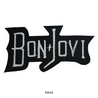 Bon Jovi Rock Music Band Logo Embroidered Patch Iron on Sew On Badge For Clothes