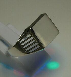 massiv Sterling Silber 925 einfacher Siegelring signet ring Gravurplatte 11x8 mm