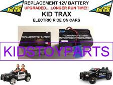 DODGE CHARGER LONG LASTING REPLACEMENT KID TRAX 12 VOLT OEM RECHARGE  BATTERY