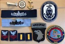 Lot Navy pins and patches ESWS USS DECATUR ESG 3 Anchor Ensign OBO military DDG