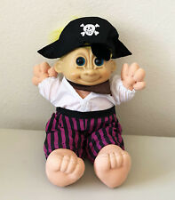 RUSS Berrie Troll Kids SINBAD the PIRATE Plush Toy Collectible Doll 13""