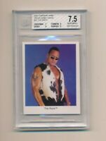 2001 Cardinal WWF WWE Trivia Game Card The Rock  BGS 7.5