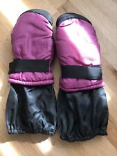 PINK & BLACK THINSULATE MITTENS GIRL'S TODDLER KIDS ONE SIZE LONG SLEEVE