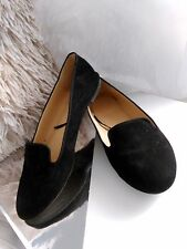 H&M Black Minimal Loafers Flats Simple Bloggers Fave Chic
