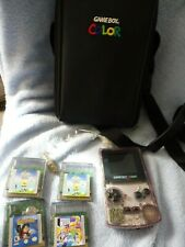 Nintendo Gameboy Color Clear with Case and Games Purple