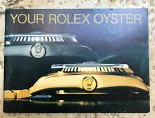 """Rolex Booklet """"Your Rolex Oyster"""" 4.89 ENG Cod 579.52 ENG - MINT"""