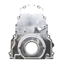 LS Timing Chain Cover Polished Alum 2 Piece Chevy W/Cam Sensor Hole LS1 LS2 5.3