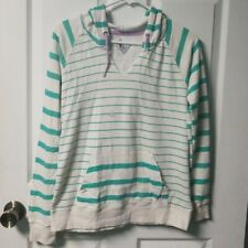 NWT Volcom Juniors Womens Striped Pullover Hoodie Sweatshirt Small New