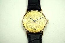 CORUM $20 U.S. COIN WATCH DATES 1970-80'S MECHANICAL WIND BUY IT NOW!!