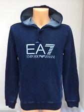 EMPORIO ARMANI EA7 Indigo OTH Hoodie Large EA7 Chest Logo Sizes S - 2XL BNWT