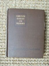 Carlyle's Essay on Burns 1915, Miniature T. Carlyle, Robert Burns, Rare, Poetry