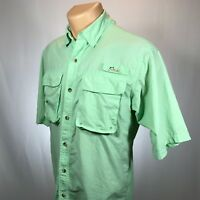 World Wide Sportsman S Mens Fishing Shirt Size Small Green Vented Back