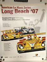 WUNDERBAR  Porsche RS SPYDER Poster American  Le Mans series Long Beach 2007