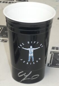Chris Jericho Signed Official WWE Cup BAS Beckett COA Drink it in Man Autograph
